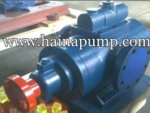 Three screw pump structure